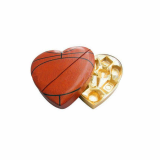 Heart Shape With Football Painted Leather Box