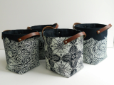 Artistic Laundry Basket Leather Pu Materials