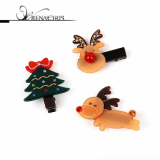 Christmas -X-mas- Rudolf hair clamp