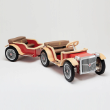 RARUS FAMILY ELECTRIC CAR _ TRAILER _Red_