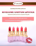 RIVECOWE Chiffon Lipstick 3g_ 5 Colors_ Matte_ long_lasting