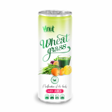250ml Can Original Wheatgrass juice drink with Mix Juice