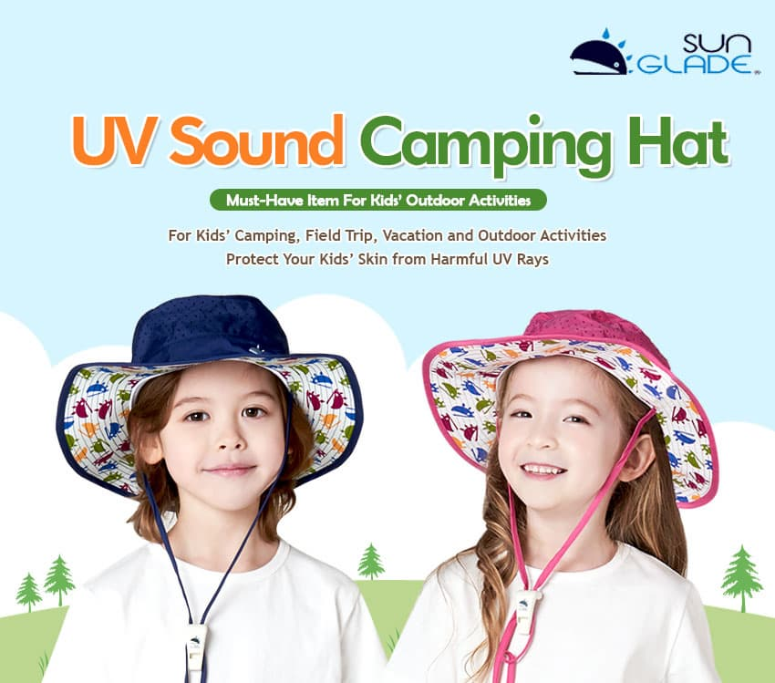 _SUNGLADE_Kids UV Sound Camping Hat