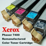 Xerox Phaser 7400 Color Toner Cartridges with the Chip, Korea
