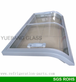 Double Curved Glass Door For Island Freezer