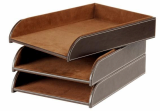 Popular Crafts Leather Document Tray