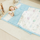 EMF Shielding Baby Bedding blue color