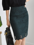 Office Style H line Lace Skirt