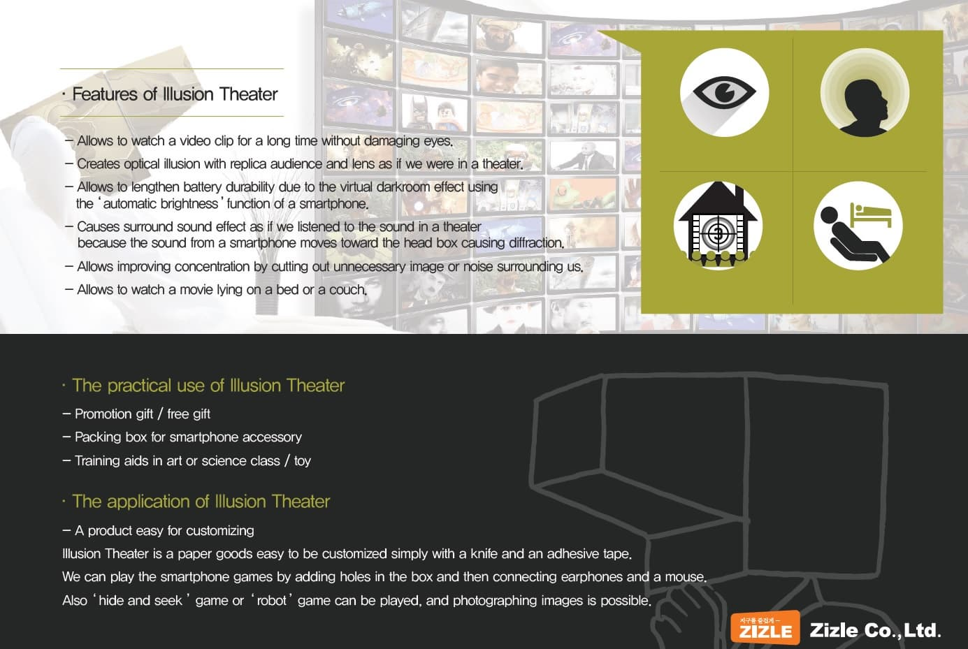 Illusion Theater cardboard movie theater