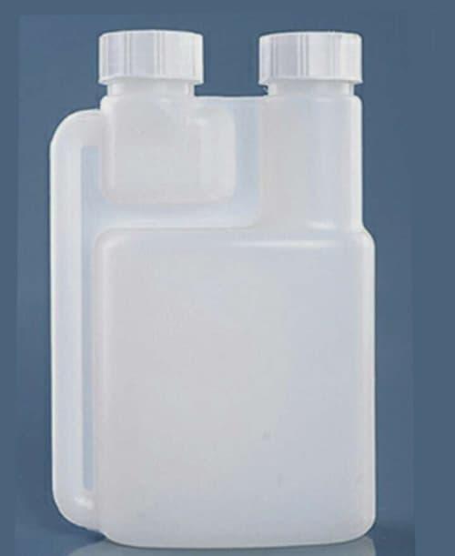 Hdpe Twin Neck Measuring Plastic Dosing Dispenser Bottle