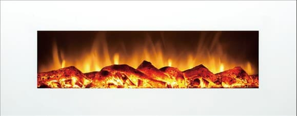 log flame watt wallmounted electric fireplace heater - Electric Fireplace Logs