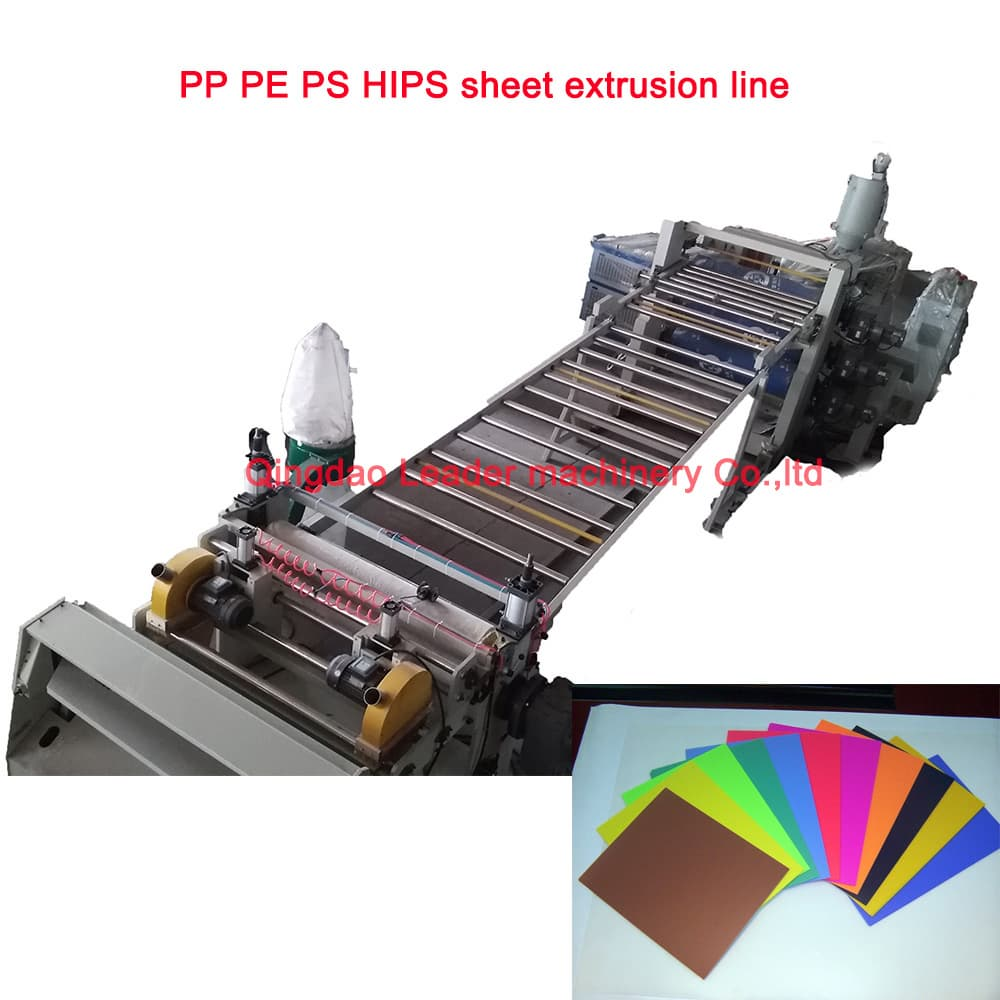 PP  PE  HDPE PS HIPS sheet extrusion machine