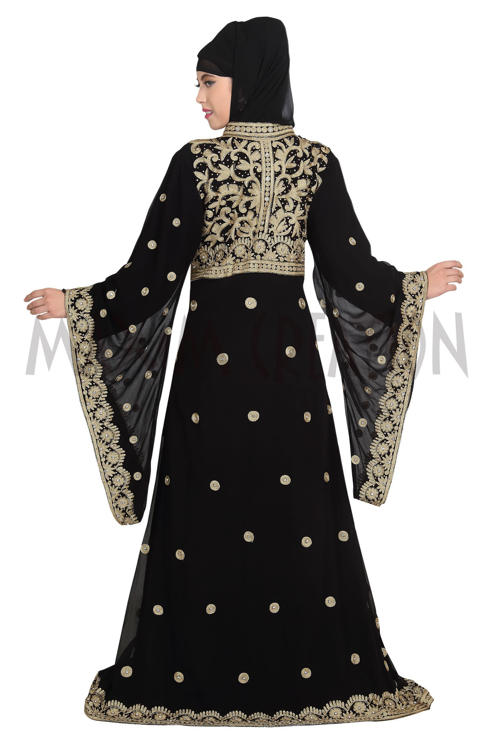 ELEGANT FANCY JILBAB ARABIAN ISLAMIC WEDDING GOWN 5516