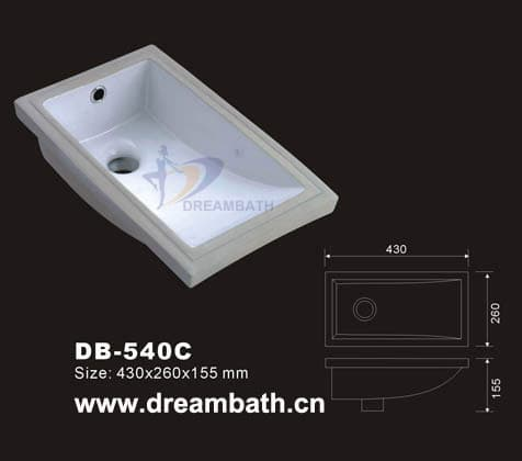 Undermount white sink