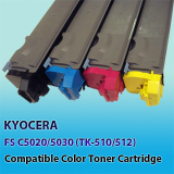 Kyocera TK-512 Compatible Color Toner Cartridge, Korea