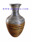 Beautiful Painted Bamboo Decor Vase