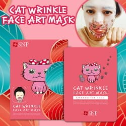 SNP Cat Wrinkle Face Art Mask