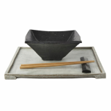 Lee Jaewon Pottery _Black and White Square Bowl_1_
