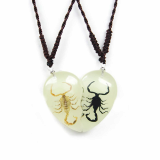 bayead,man made insect amber necklace pendant Jewelry,so cool gift,unique gift