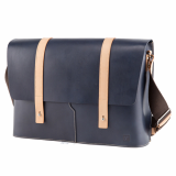 Truhaven Leather Messengerbag _Navy_