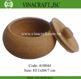 Handmade Rattan Basket with handle for storage