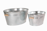 galvanized steel tub metal bucket