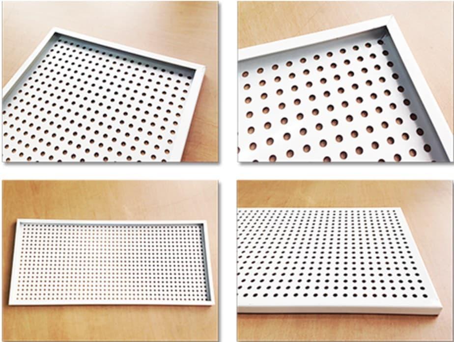 interior perforated metal wall panels (white powder coating)  tradekorea