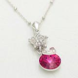 Cherry star necklace