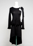 [JA-023] Long sleeve women's knit dress designed with separable top and bottom