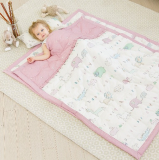EMF Shielding Baby Bedding light pink color