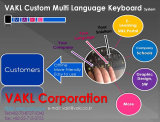VAKL Custom Multi-Language Keyboard EDU System