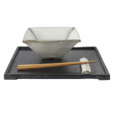 Lee Jaewon Pottery _Black and White Square Bowl_2_