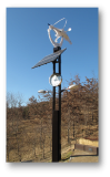 Loop type wind power street lighting