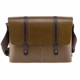 Truhaven Leather Messengerbag _Olive Green_