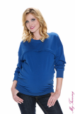 My Tummy - Maternity sweatshirt Nicki blue