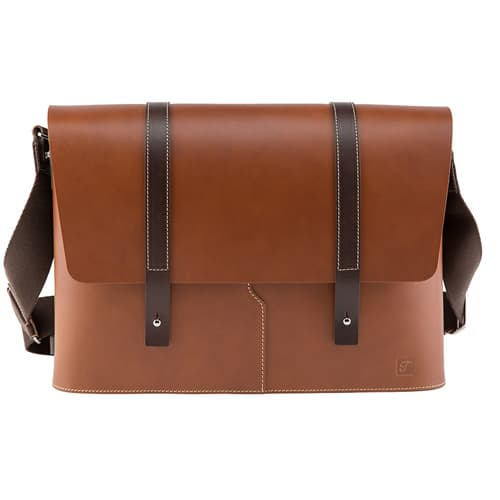 Truhaven Leather Messengerbag _Tan Brown_
