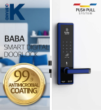 Smart door lock wooden door BABA_8200
