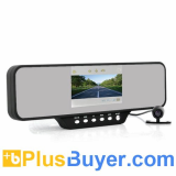 4.3 Inch Car Mirror DVR with Dual Front Camera - Ultra Wide 260 Degree Recording Angle