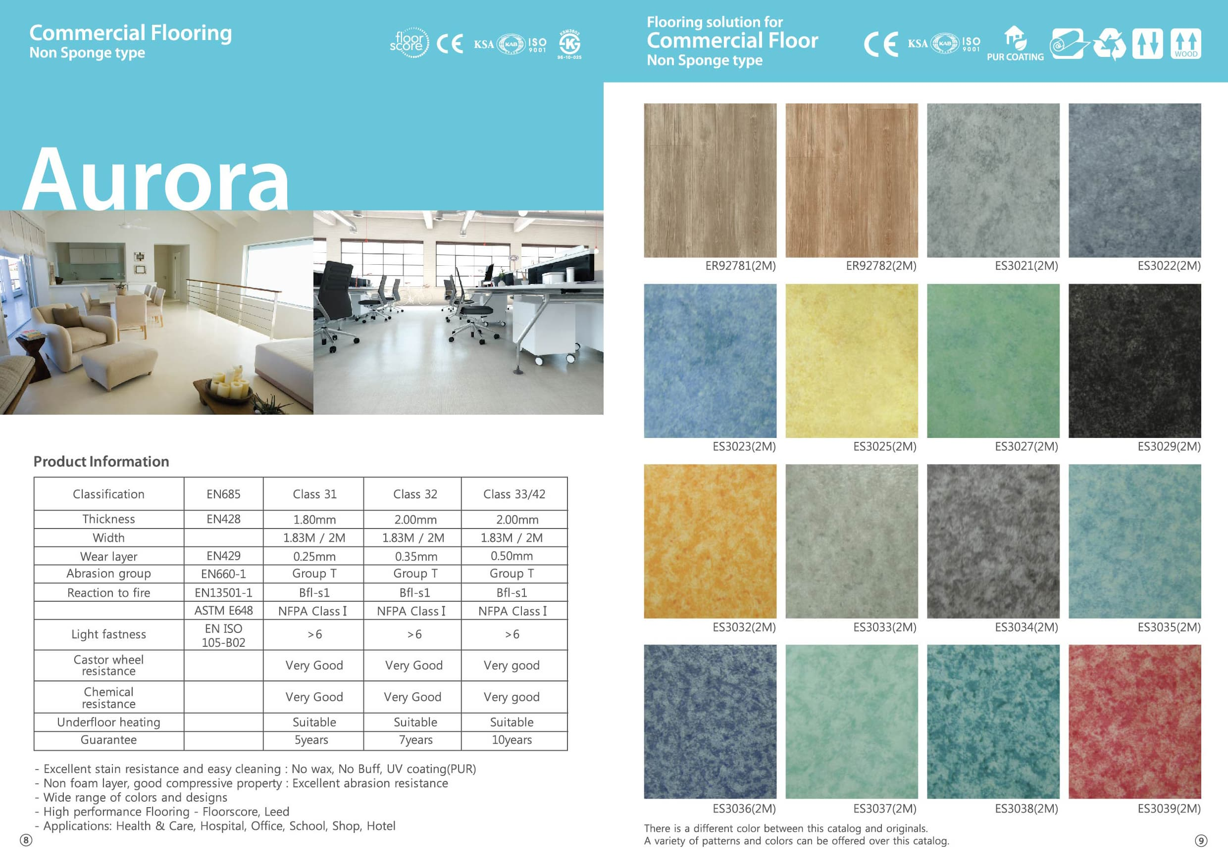 PVC flooring for commercial use