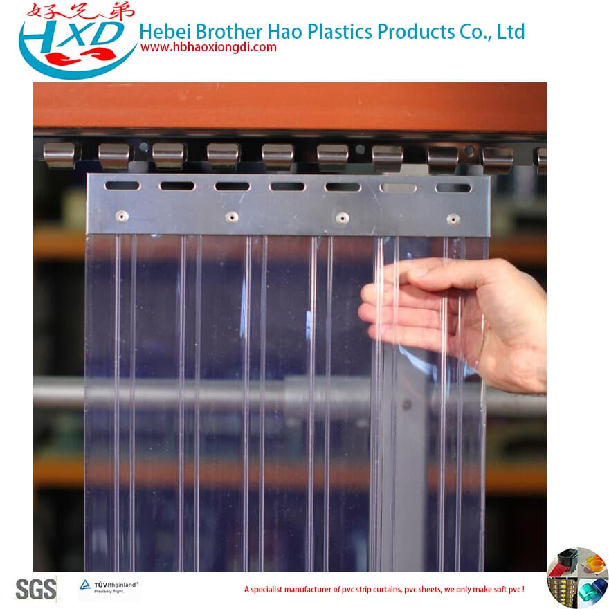 3mm Flexible Soft Vinyl Plastic PVC Strip Door Curtain Roll