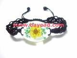 Real Natural Flower Crystal Amber Bracelet Jewelry Wholesale, Very Cute Gift