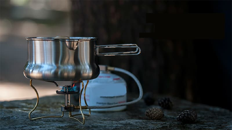 Portable liquefied gas stove