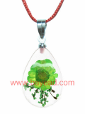 Real Natural Flower Crystal Necklace Pendant Jewelry, So Cute Gift
