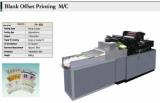 Blank offset printing machine