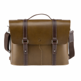 Truhaven Multi_use Leather Briefcase _Olive Green_