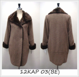 [Keosan Apparel] Luxury Coat for Women (12KAP 03(BE))