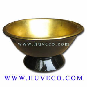 Traditional Handmade Vietnam Lacquer Decor Bowl