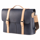 Truhaven Multi_use Leather Briefcase _Navy_