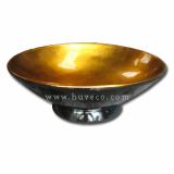 EcoFriendly Handcrafted Bamboo Serving Bowl