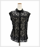 [Basic] Black Lace Blouse